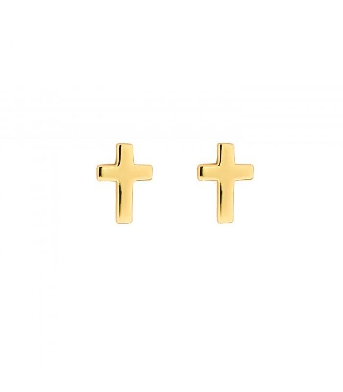 Pendientes Cruz Oro 18k