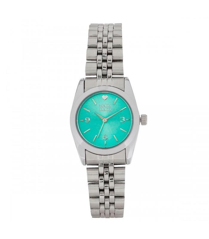 Reloj Plata Mini Corazón Menta