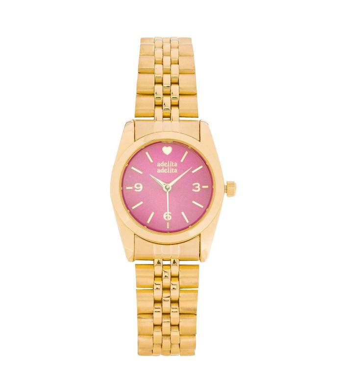 Reloj Be Happy Dorado Frambuesa