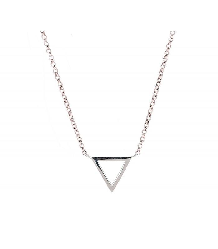 Colgante Triángulo Pequeño Plata 925