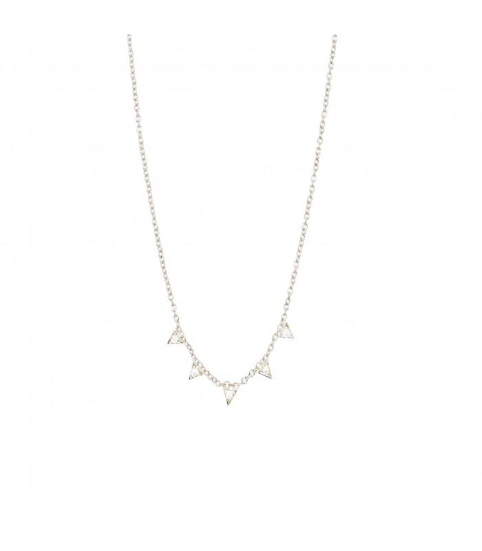 Colgantes para mujer Colgante Triángulos Cristales Plata