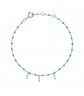 Pulsera Blue Wish Plata