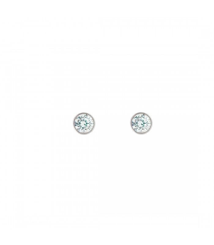 Pendientes Cristal 4mm Plata 925