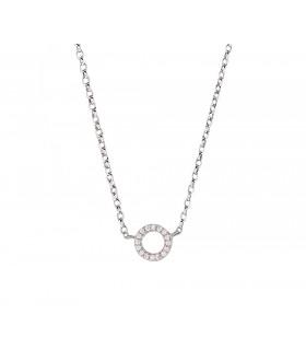 Cadena Mini Círculo Cristales Plata 925