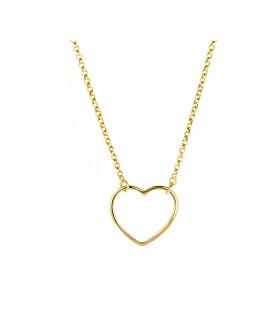 Colgante Corazón Hueco Oro 18k