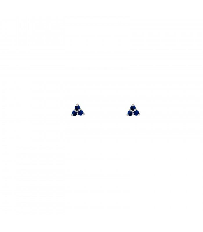 Pendientes  Pendientes Triple Zafiro