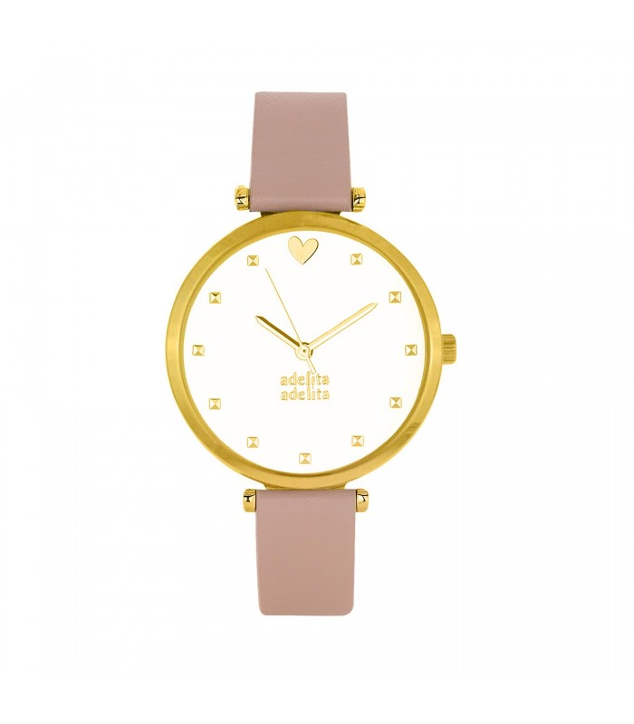 Relojes Reloj Tachas Piel Vegana Rosa