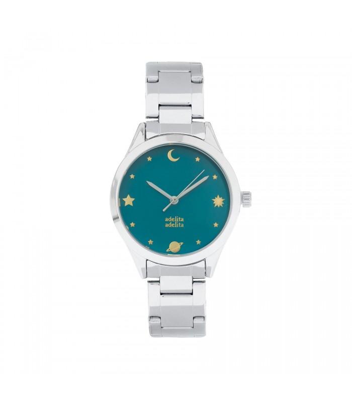 Relojes Reloj Astrology Plata Verde