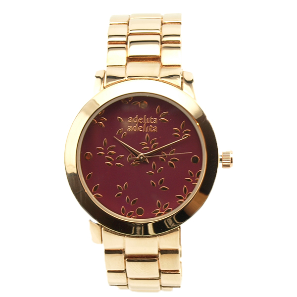 Reloj oro rosa rebel hojitas