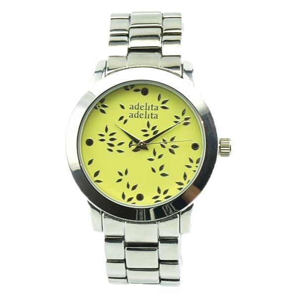 Reloj plata amarillo hojitas