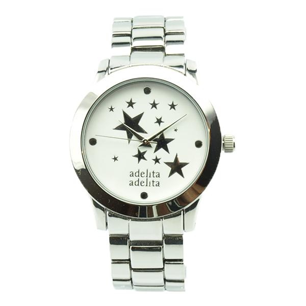 reloj plata estrellas blanco