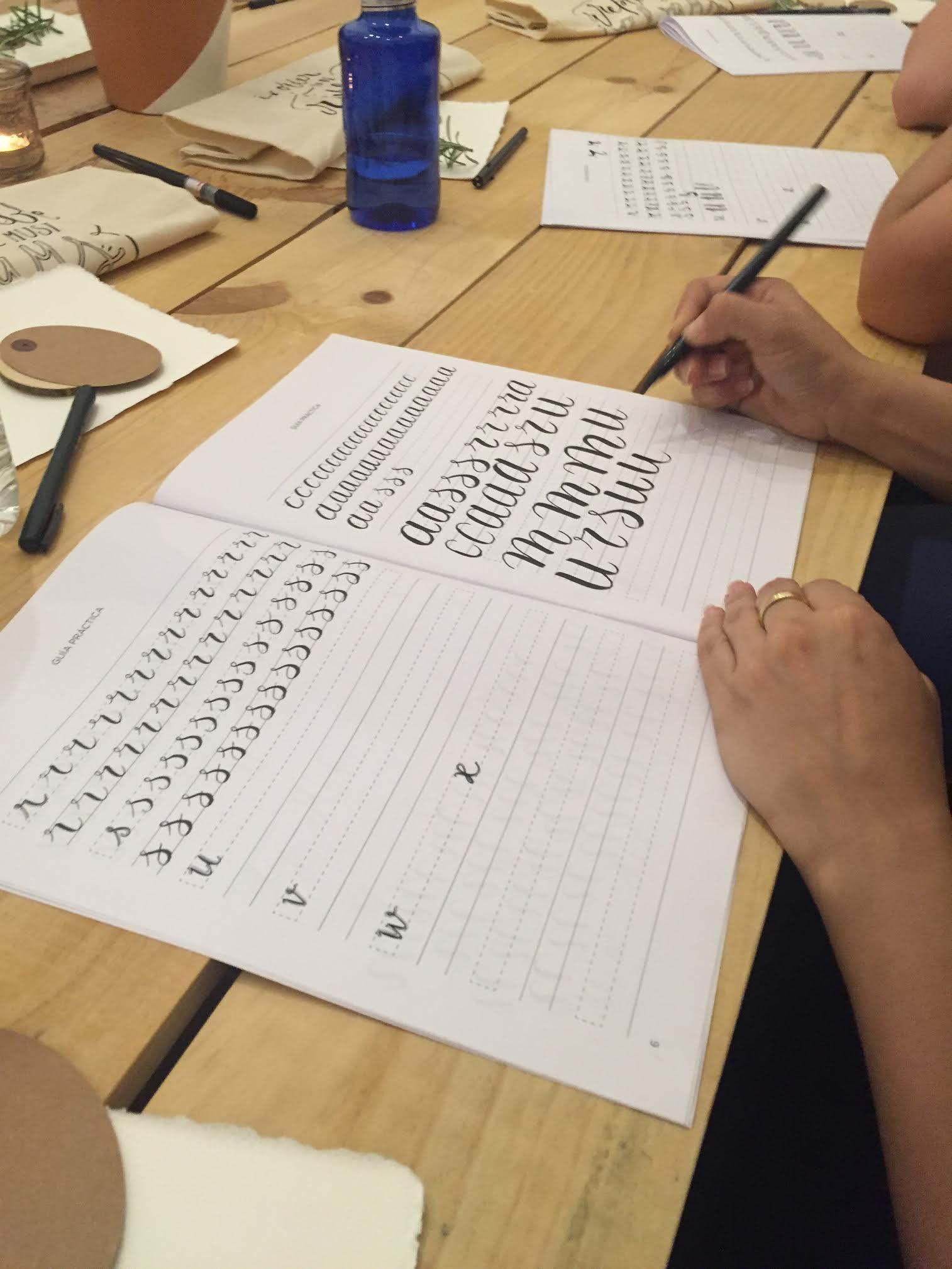 Caligrafía curso lettering