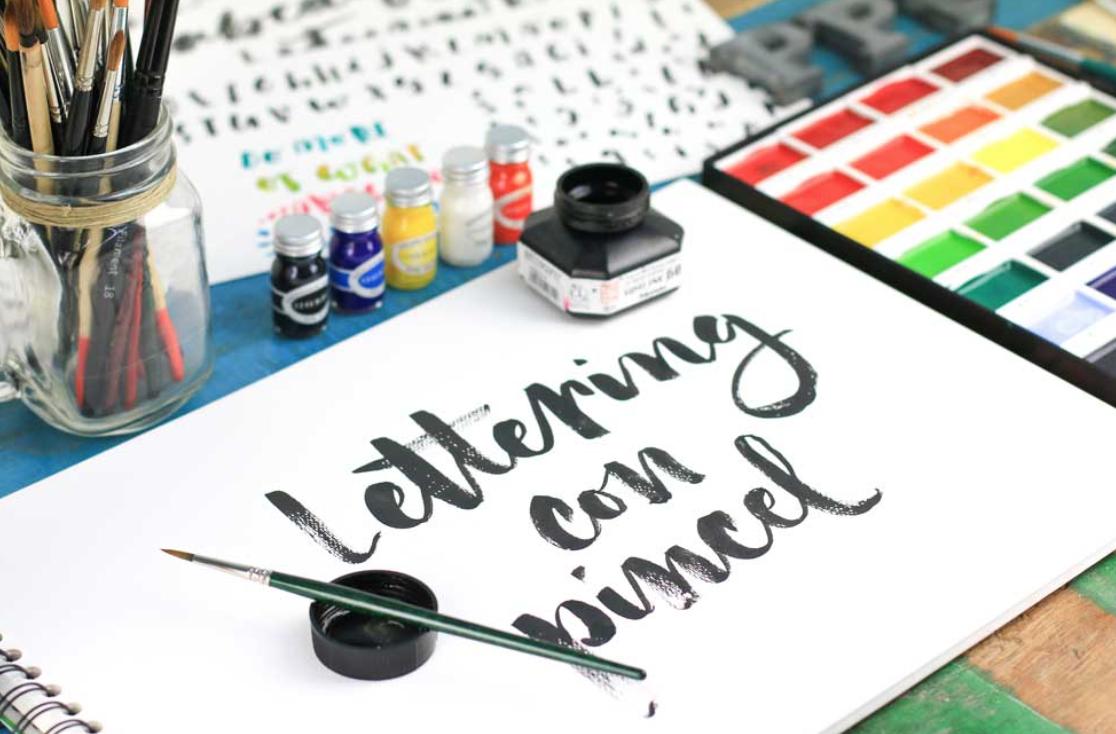 Curso de lettering con acuarela