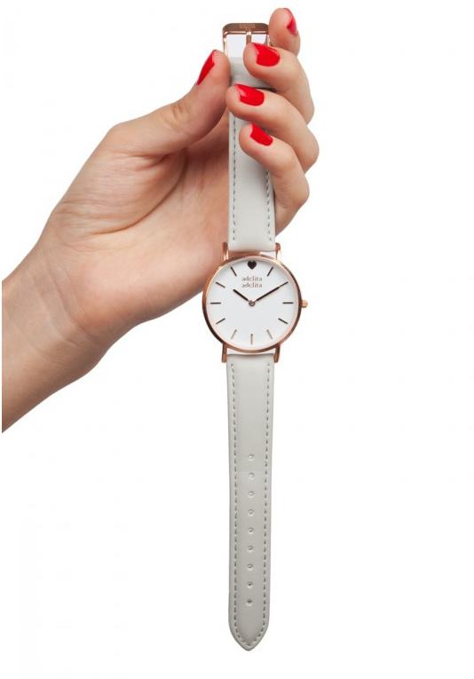 Reloj correa intercambiable rosa y gris