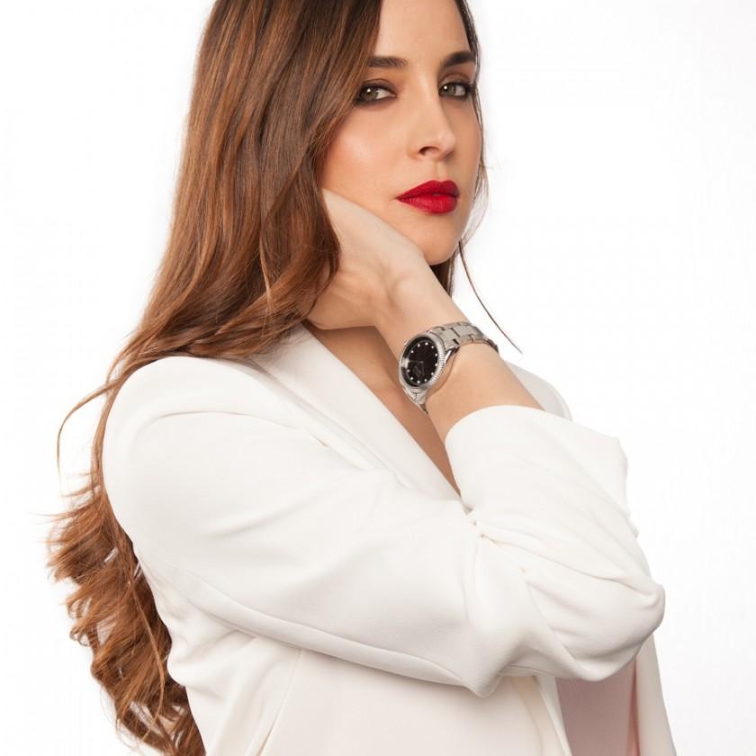 reloj plata negro brilli y Lorena van heerde