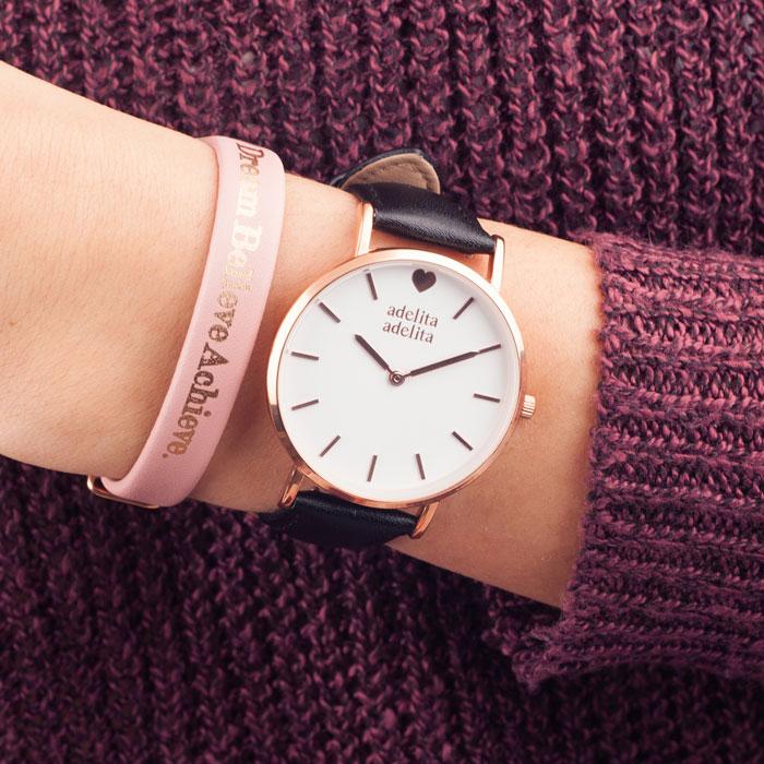 reloj-pastel-dream-rosado-negro